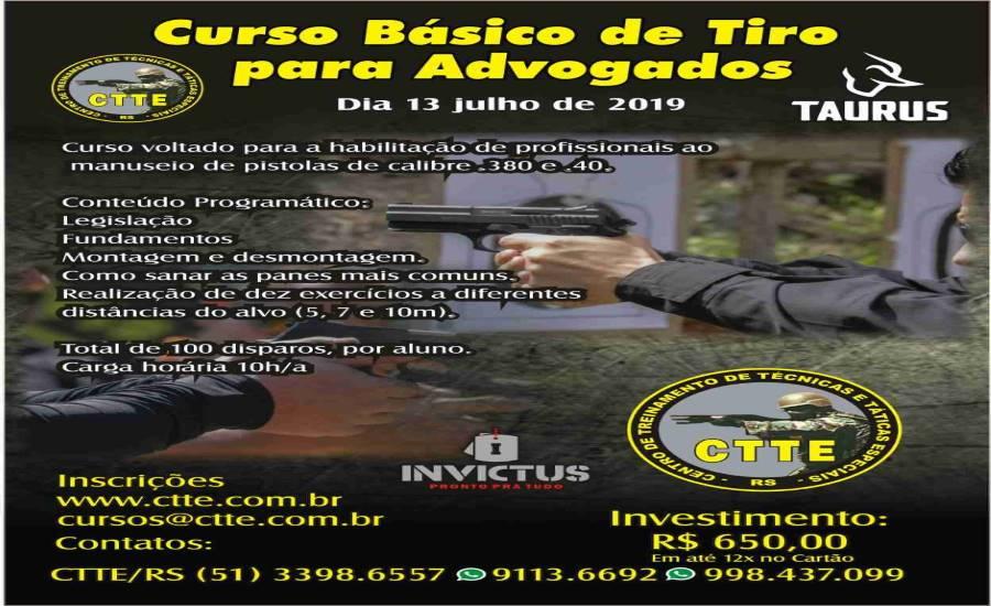 CURSO BÁSICO DE TIRO PARA ADVOGADOS