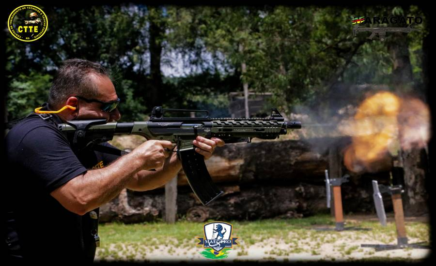 TÉCNICAS DE TIRO COM ARMA LONGA - CALIBRE 12 - PLATAFORMA AR - MAESTRO